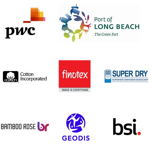 SPONSORED BY: PWC, PORT OF LONG BEACH, COTTON INCORPORATED, FINOTEX, SUPERDRY. WITH ADDITIONAL SUPPORT FROM BAMBOO ROSE, BSI, AND GEODIS USA.